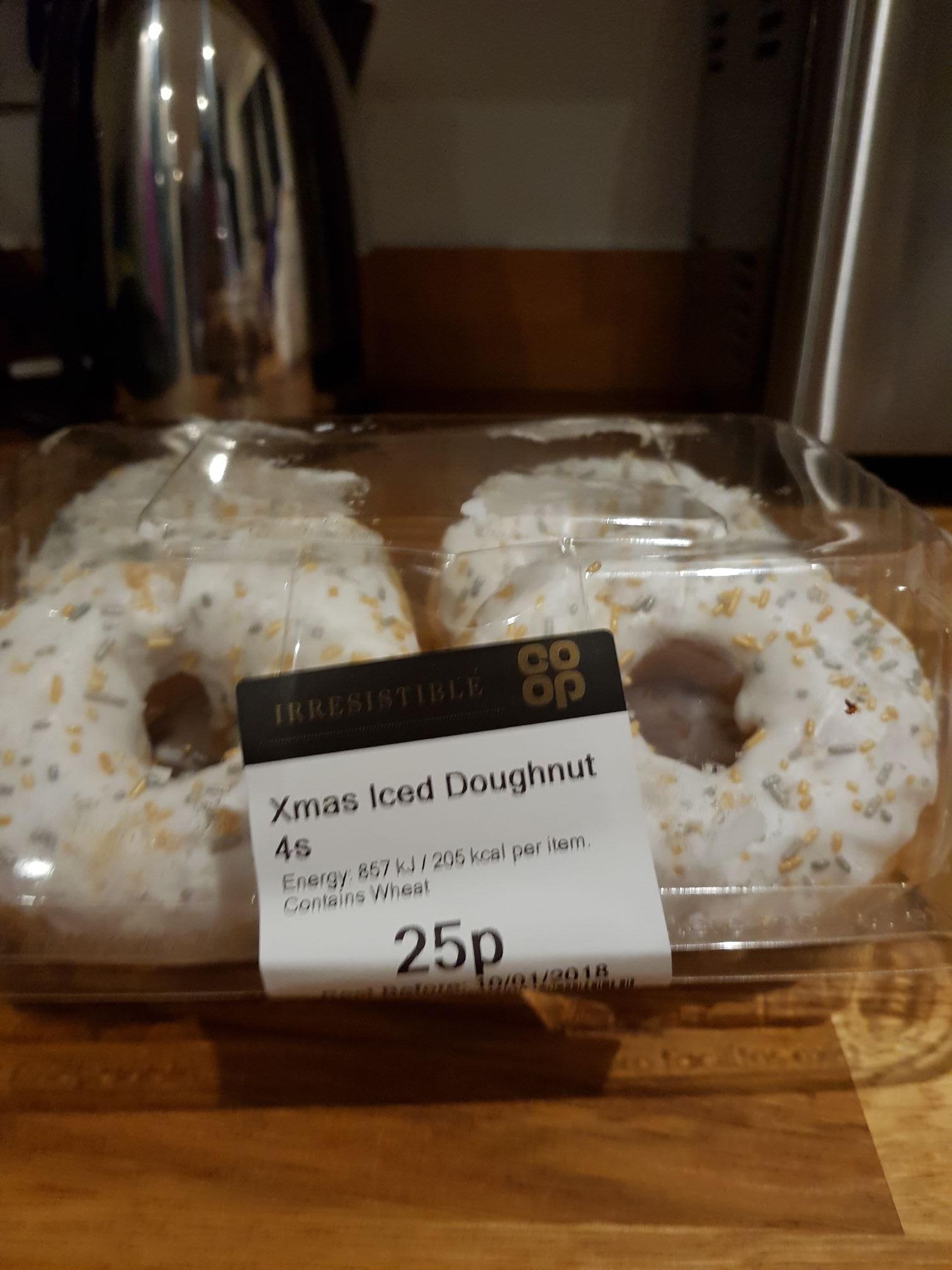Coop xmas doughnut 4 pack 25p!