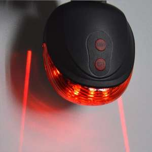 5 LED/twin laser bike lane rear bike light £1.31 @ Ali Express / Braversroad OutdoorSport Store