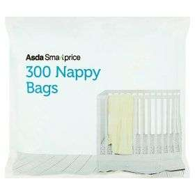 Asda smart price nappy bags 35p for 300 & fragranced