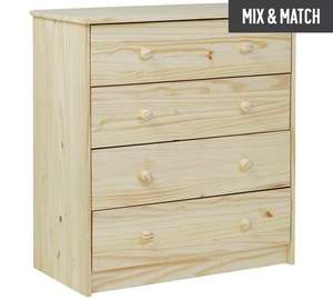 HOME Jakob 4 Drawer Chest - Pine (STOCK is TIGHT) at Argos for £47.99