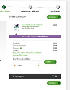 Pets at Home - 1st months subscription for flea treatment just 1p!!! £4 after that by direct debit per month