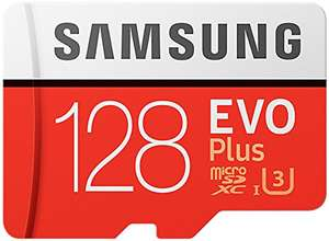 Samsung EVO Plus Micro SD U3 128GB Class 10 100M/S Card £38.48 @ DX
