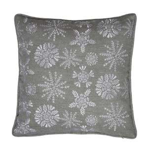 Snowflake Embroidered Cushion @ Dunelm reduced from £20 to £4