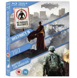 2012 / Battle: Los Angeles / District 9 (Blu-Ray Triple Pack) £4.99 Delivered @ Base