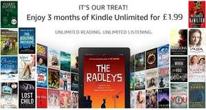 Amazon Kindle - 3 months of Kindle Unlimited for £1.99