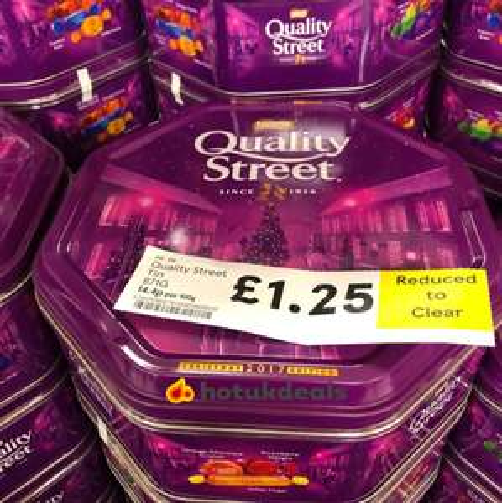 Quality street metal tin 871g - £1.25 at Tesco instore