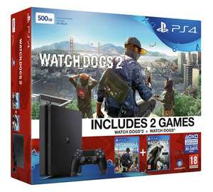 PS4 Slim 500GB Watch Dogs 2 Console Bundle - £189.99 at ARGOS