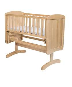 Pre-order Mothercare Deluxe Gliding Crib - Natural £35 (was £110) + £3.95 P&P  or free del over £50
