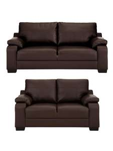 Dino 3-Seater + 2-Seater Faux Leather Sofa Set (Buy And SAVE!) £348 + £8.99 del @ Very