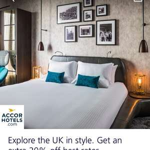 20% off Accorhotels stay via O2 Priority App