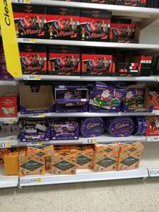 Mars and Cadbudy Selection boxes 50p at Tesco instore