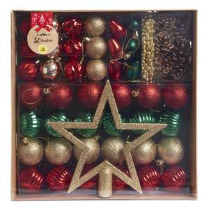 Wilko Nordic Country Complete Christmas Decoration 50pk Reduced from £6 - Free store collection