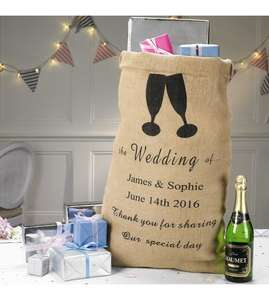 Personalised Hessian Wedding Card/Gift Sack - £1.99 (Free delivery with code) @ Studio