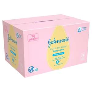 Johnsons Extra Sensitive Baby Wipes 12 Pack - 56 per pack - £6 @ Morrisons