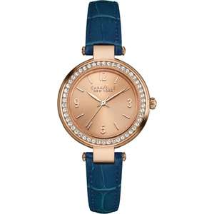 Women's Caravelle New York T-Bar watch [44L178] £24 Delivered @ H.S Johnson