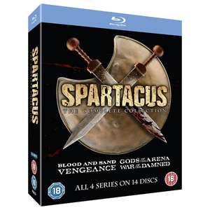 Spartacus 1-4 The Complete Collection Blu-ray £16.19 - DVD Boxset £11.69 @ 365games