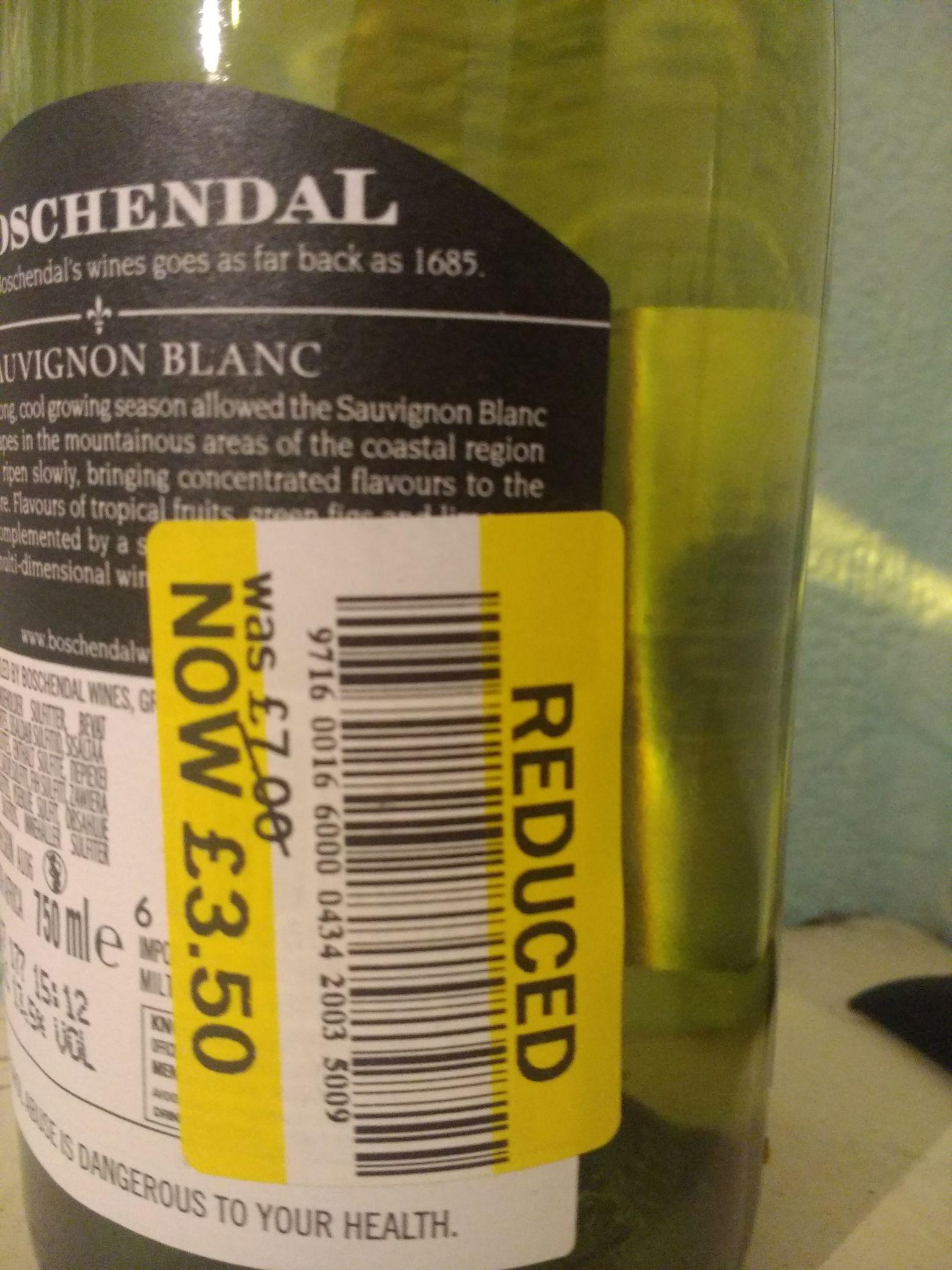 Wines RTC Tesco instore (Feltham High Street) eg - Boschendal Sauvignon Blanc - £3.50