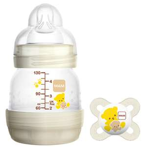 Free Bottle and Soother (£7.99) with code TRYMEFREE + (£3.99 p&p) @ MAM baby