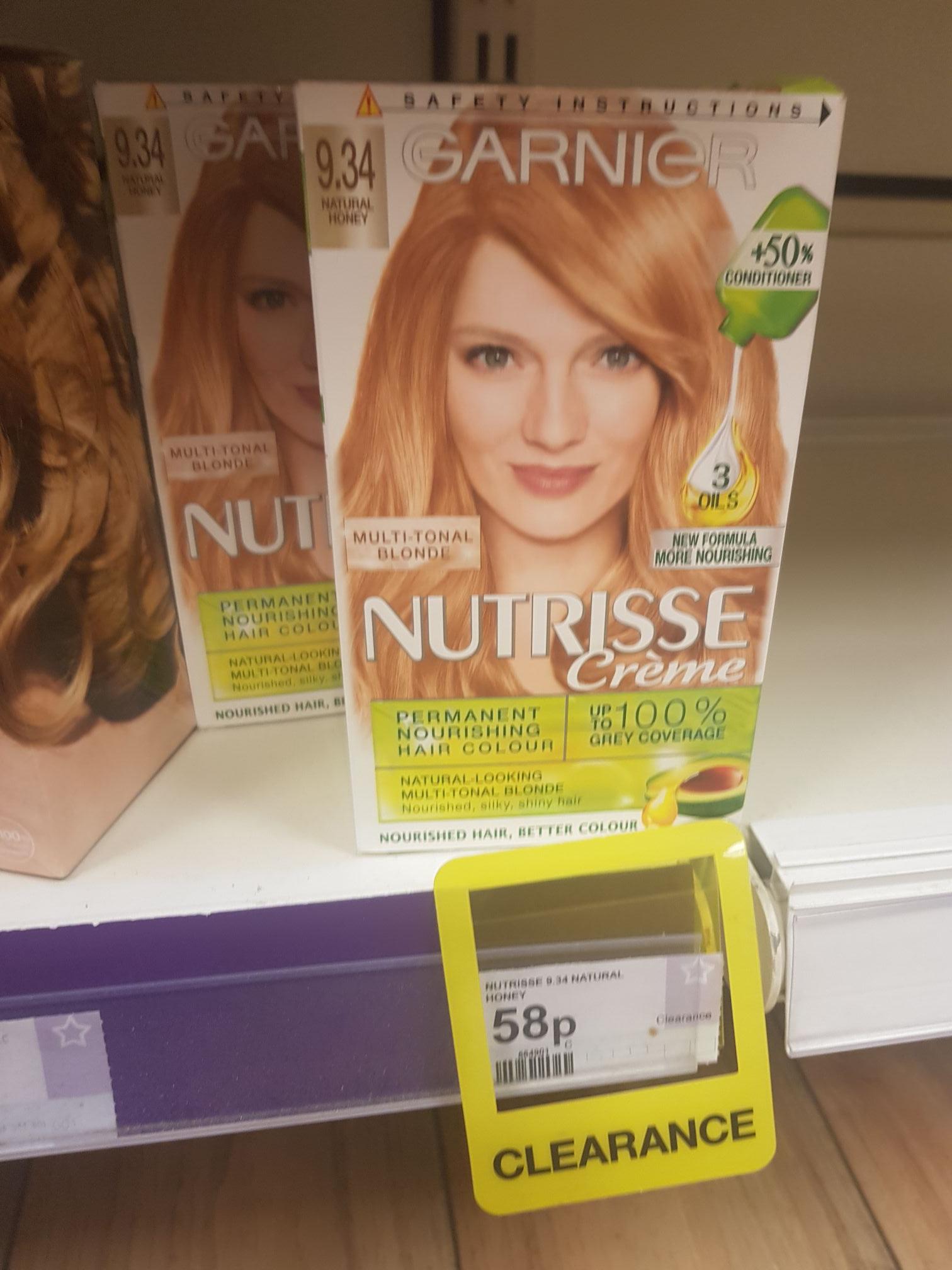 Garnier Nutrisse Creme permanent hair dye (Honey) 58p instore at superdrug