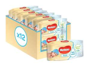 Huggies Pure Baby Wipes 12 pack in a box - £7 @ Boots