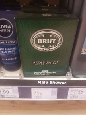 100ml Brut Aftershave 75p @ superdrug instore