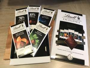 Lindt Excellence 5 x 100g bars in Presentation box £2.50 @ Tesco instore