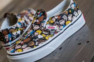 Kids Vans X Peanuts Classic Slip-on Shoes now HALF PRICE - £16 @ Vans