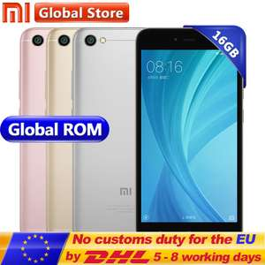 Original Xiaomi Redmi Note 5A Note5A 2GB 16GB (Global with band 20) £65.99 @ Aliexpress