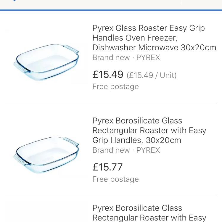 Pyrex sale at pound stretcher e.g Classic roaster 30cm x 20cm £2.99