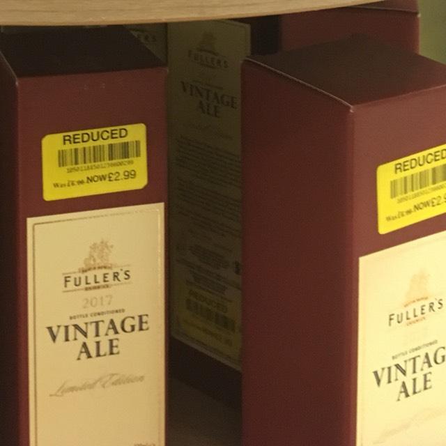 Fuller's Vintage Ale 2017 £2.99 @ Waitrose Barbican