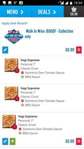 341 on Domino's pizza! 3 personal pizzas for £6.99 when you combine with Wuntu offer!
