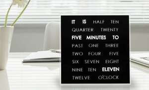 LED word clock reduced from £84.99 to £24 + £1.99 delivery @ Groupon.