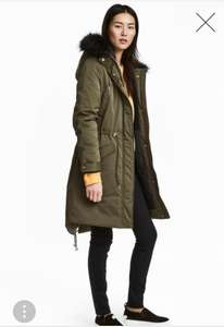 Ladies Padded Parka in Green £20.99 reduced from £69.99 at H&M
