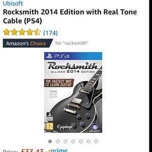 Rocksmith PS4 with real tone cable £33.43 @ Amazon