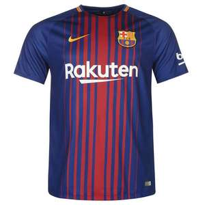 FC Barcelona Mens Shirt 2017/18 Current Football Season (Can be Personalised) £30.99 @ Kitbag
