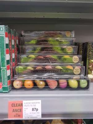 Almond marzipan fruits 87p at co op  (rrp  £3.49) - found instore (Tamworth)