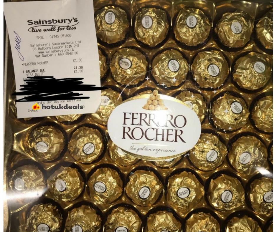 42 piece Ferrero Rocher £1.30 @ Sainsbury's instore