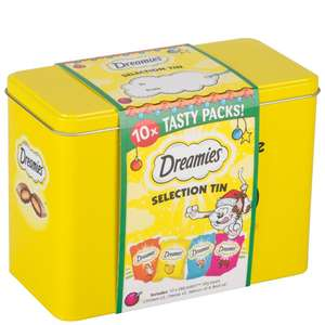 Dreamies Xmas Cat Selection Tin - £1 - Wilkinsons / Wilko instore