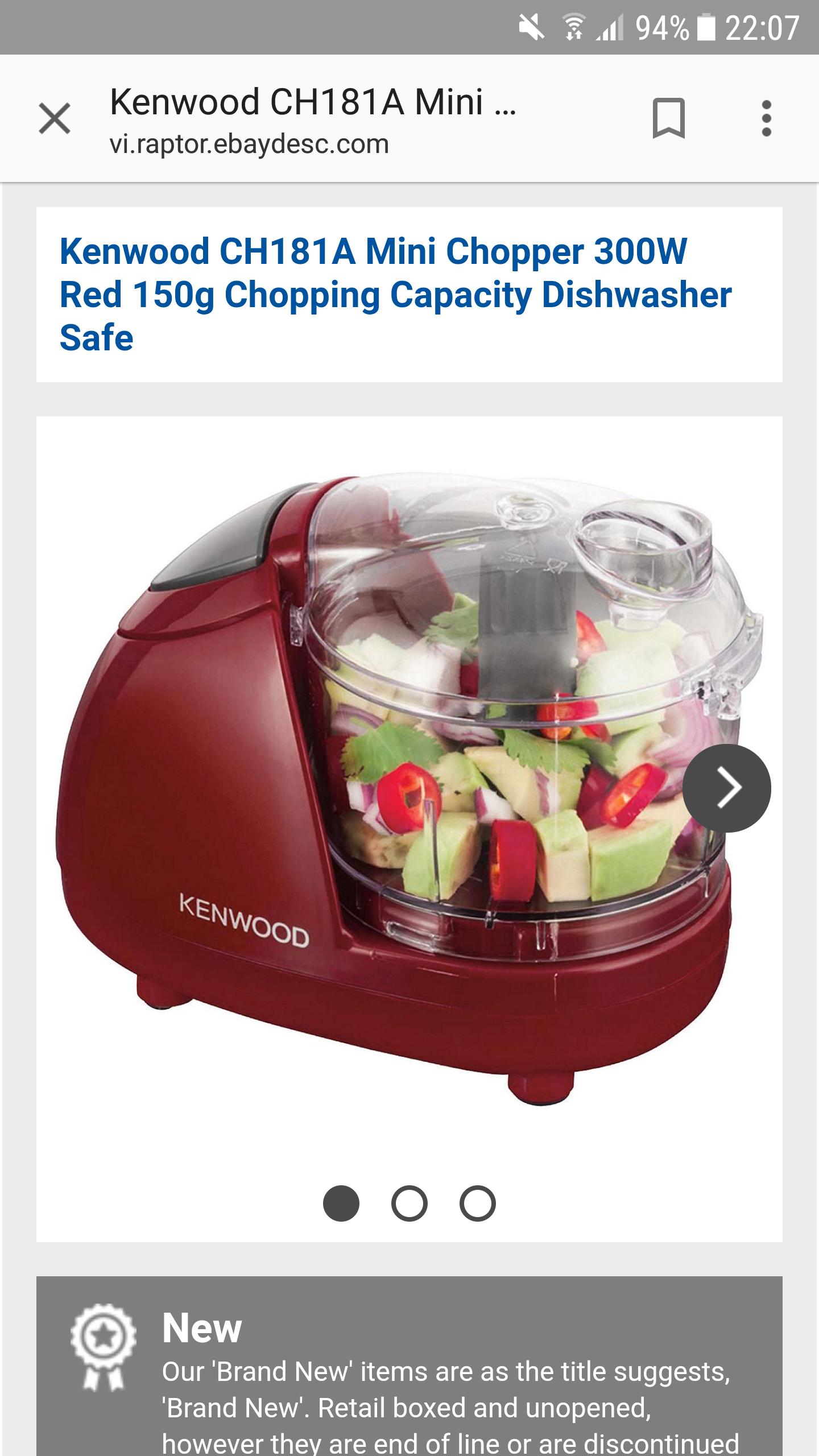 Mini food processor - £12 @ Tesco eBay Store