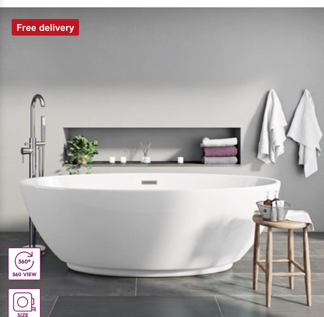 Mode Harrison Freestanding Bath £319 - VictoriaPlum.com