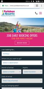 Parkdean Resorts discount code Up to £50 extra off your booking