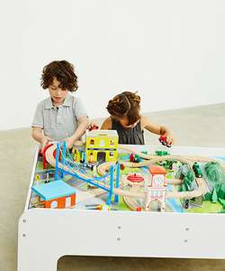 Big City Wooden Rail Train Table was £150 now £40 Del / instore @ ELC & Mothercare