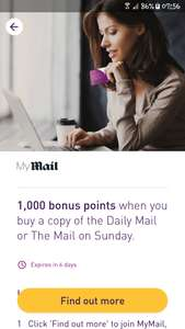 Now here's a moral dilemma for you. 1000 nectar points for buying 1 copy of the daily mail. May be account specific