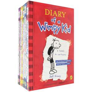 Diary of a wimpy kid 5 book box set RRP £34.95 now £10 ( with code £7.50 ) @ the works.free click & collect