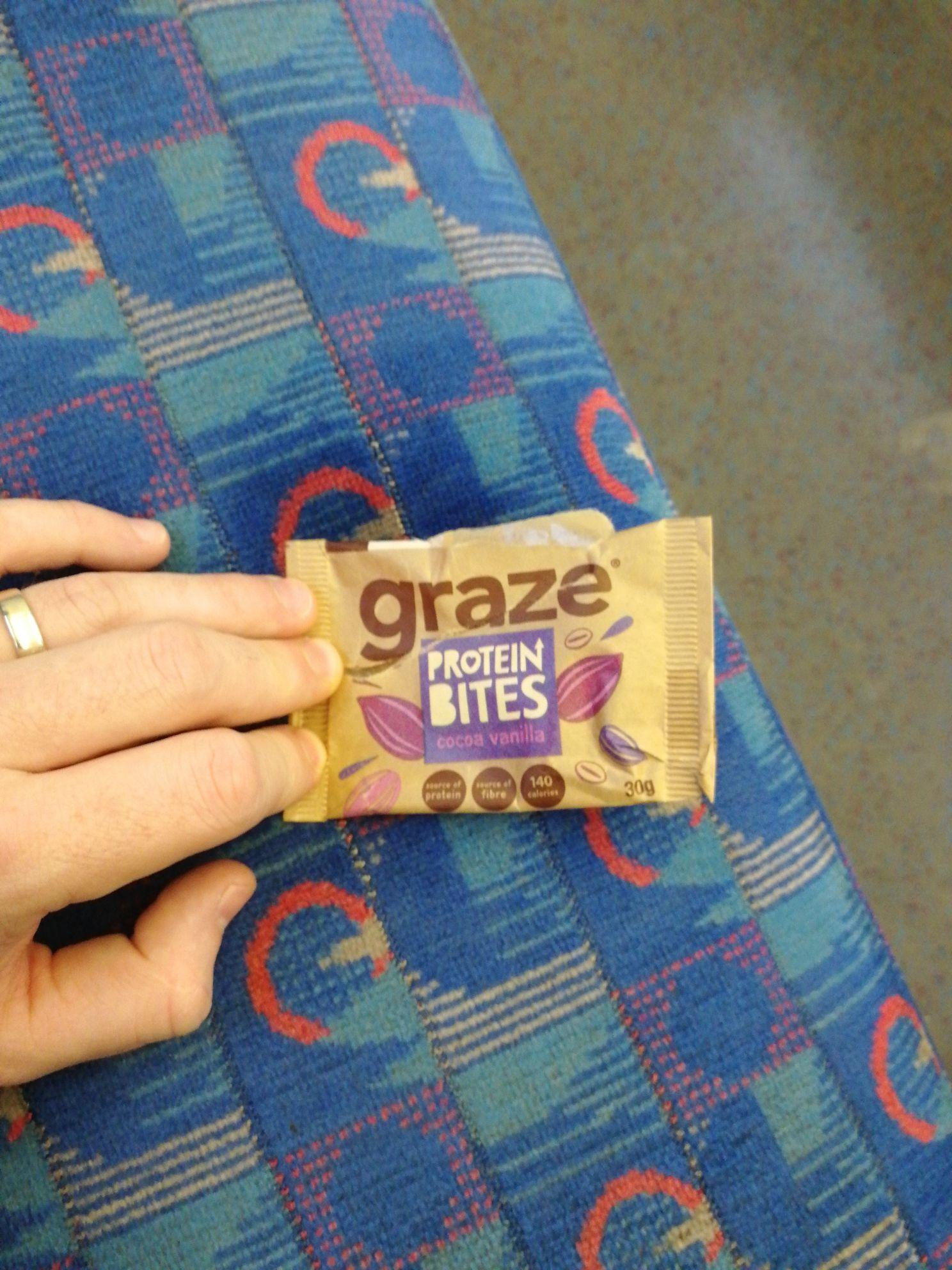 Free GRAZE Protein bites @ Waterloo Station