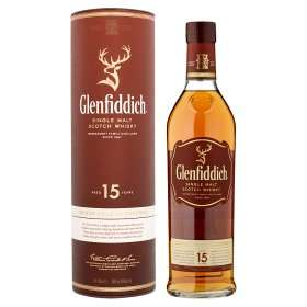 Glenfiddich 15 Years Old Single Malt Scotch Whisky 70cl £30.00 Asda/Amazon