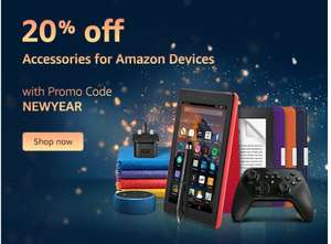 20% off Amazon device accessories with code NEWYEAR