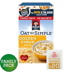 Quaker Oat So Simple (20 Pack) Golden Syrup/Original/Apple&Berry @ Morrisons - £2
