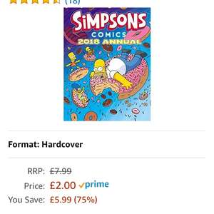 The Simpsons 2018 annual was £7.99 now £2 / £4.99 non prime @ Amazon