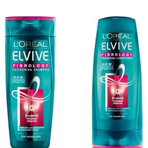 L'oreal paris elvive fibrology thickening shampoo and conditioner 75p Boots instore (3 for 2 as well)